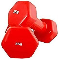Iron Fixed Weight Universal Fitness 3Kg Vinyl Dumbbell, Weight: 6 Kg