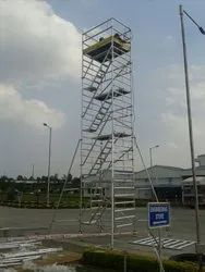 Single Ladder With Single Platform Scaffolding