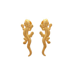 Awesome Lizard Earring Stud Vermiel Gold Plated Party Wear Womens Lover Stud