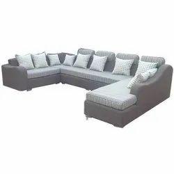 Modern Wooden Full Cushion C Type Sofa for Office