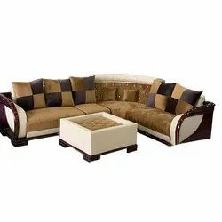 5 Seater Wooden L Shape Sofa Set