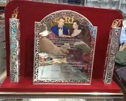Box Invite Floral Silver Wedding Card