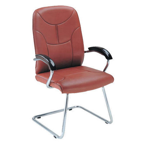 Red Leather Steel Executive Chair