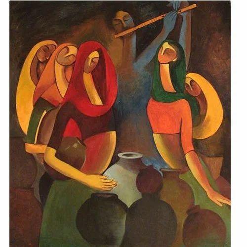 Modern Art Watercolor Abstract
