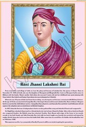Rani Jhansi For Life Sketch Of Great Men Chart