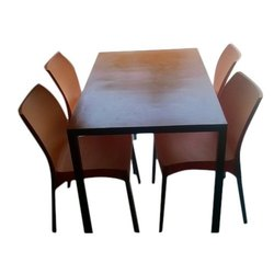 OPCIEAS Stylish Cafeteria Chair Table Set, Shape: Rectangular