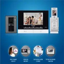 7 Lcd Screen White Panasonic New wireless VIDEO DOOR PHONE, Lock, Model Name/Number: Vl - Sw 274