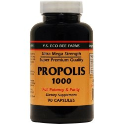 Y.S. Eco Bee Farms Propolis 1000 Mg Capsules, Packaging Type: Plastic Bottle