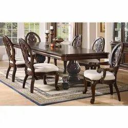Modern Wooden Dining Table Set, For Home, Restaurant