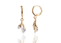 24k Gold Plated Artificial Diamond Tulip Earrings