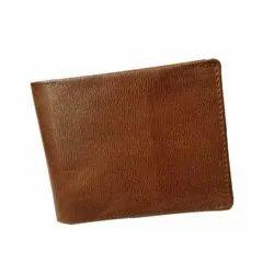 Brown Bi Fold Crunch Leather Wallet For Men, Card Slots: 5, 2