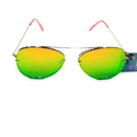 Silver With Golden Green Sunglasses Lens