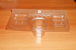 Unbreakable Acrylic Soap Dish With Tumbler Holder