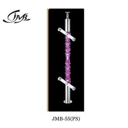 Purple Acrylic Designer Glass Railing Baluster