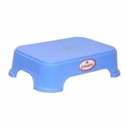 Samarth Blue Moulded Plastic Bath Stool