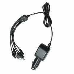 1 Meter (Appx) Safeseed Dc/Car 5 In 1 Multi Pin Charging Cable (Black)