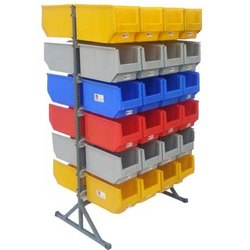 45 Double Sided Bin Stand