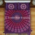 Screen Printed Mandala Bedding Set Indian Mandala Beddin Throw With Pillow Covers
