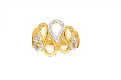 ee28b81a4 Ring In Yellow Gold With Diamonds 100436, Casual Cocktail - Ornaz ...