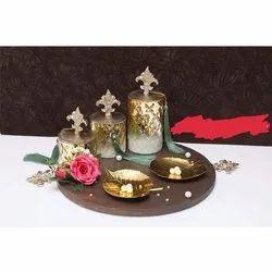 Golden Glass Decorative Corporate Gift