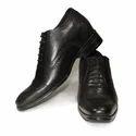Mens Black Leather Elevator Shoes, Size: 6-9