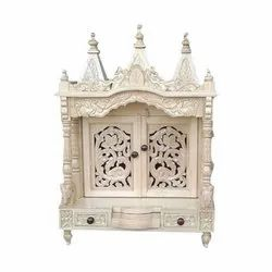 Brown Traditional Wooden Designer Temple, 5 Kg, for Worship