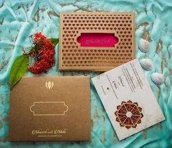 Paper Box Invite Wedding Invitations Cards, Size: Normal