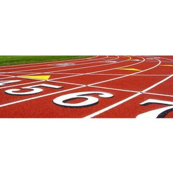 Rubberized Outdoor Running Track Flooring Service