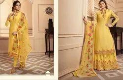 Designer Sharara and Churidar Combo