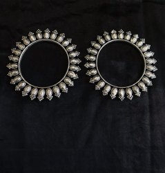 Casual Oxidized Silver Brass Kolhapuri Bangles