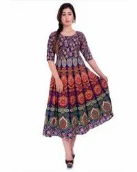 Indian Mandala Cotton Printed Frock