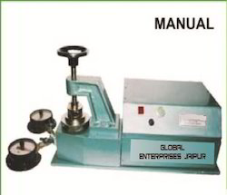 Bursting Strength Tester Single head double Gauge Manual