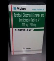Tenofovir Disoproxil Fumarate Emtricitabine Tablet Coated 300 Mg 200 Mg