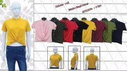 Front Chunatt Plain T-shirts, Size: Medium, Handwash