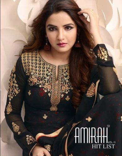 01c0893f76 SALWAR SUIT - Aashirwad Veeda Gold Designer Georgette Anarkali Suit  Collection Wholesale Sellers from Surat