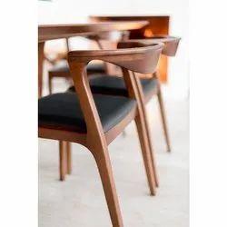 Teak Wood Brown Dining Chairs