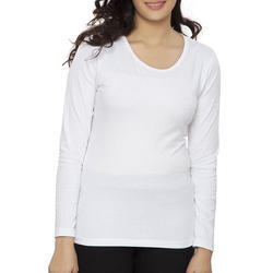 Ladies Plain White Top