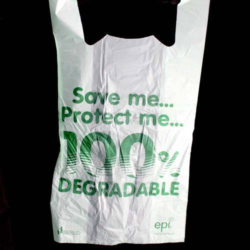 White Biodegradable Plastic Bag, Size: 2 - 21 Inch