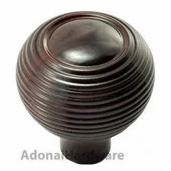55mm Round Wooden Cabinet Knob without Coin