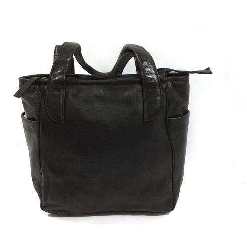 Black Plain Ladies Hand Bag