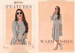 Shubh Nx Palpee Series 3501-3504 Stylish Party Wear Cotton Kurti