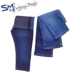 Blue Spandex Denim Fabric, Packaging Type: Roll