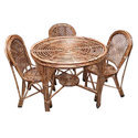 Wooden Antique Cane Dining Table Set