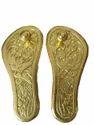 Gold Plated Charan Paduka