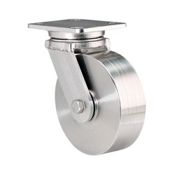 Plate Mounted Stainless Steel Caster Wheel