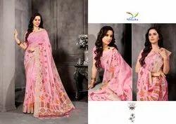 Tanuja Fashion Indian Beauty Vol 5 Linen Digital Printed Designer Saree