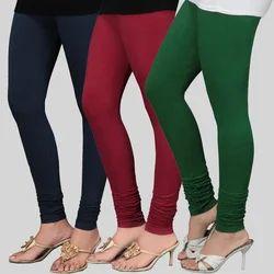 Multi Cotton Ladies Churidar Legging, Size: S And L