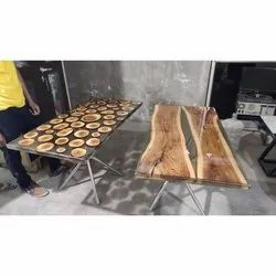 Wooden Epoxy Table Coating Service