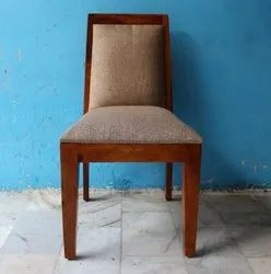 Sheesham Wood With Fabric Dining Chair
