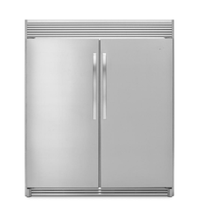 Double Door Vertical Deep Freezer